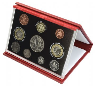 2001 Proof set red Leather deluxe